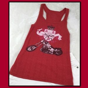 PINK RED AND WHITE PINK ROYALTY TANK S